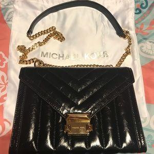 Michael Kors Whitney Black Leather Purse